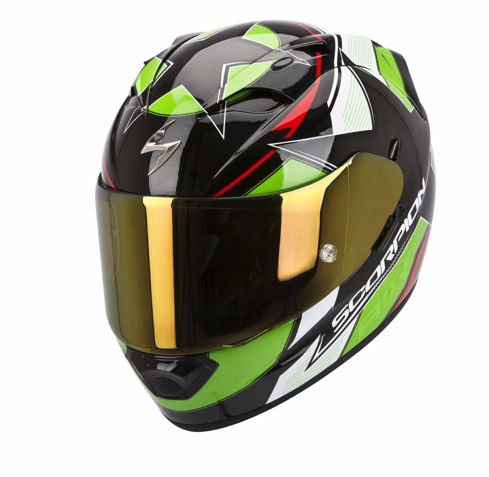 Scorpion Exo 1200 Air Stella full face helmet black green red
