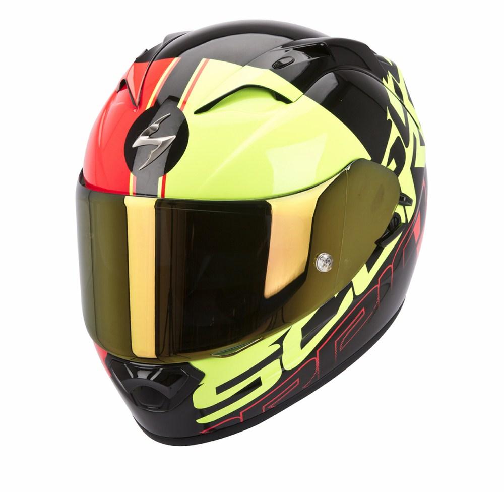 Scorpion Exo 1200 Air Quarterback full face helmet black red