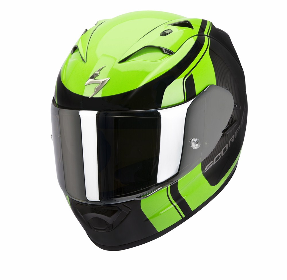 Scorpion Exo 1200 Air Stream Tour full face helmet black green