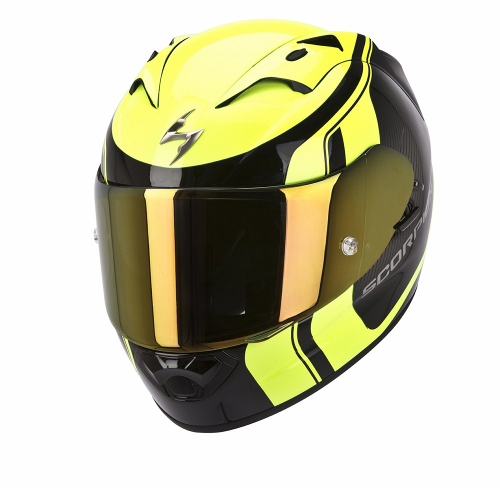Scorpion Exo 1200 Air Stream Tour full face helmet black yellow