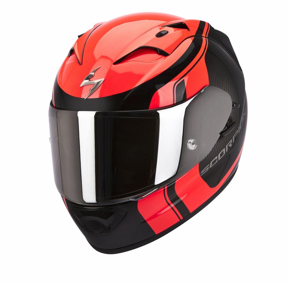 Scorpion Exo 1200 Air Stream Tour full face helmet black red