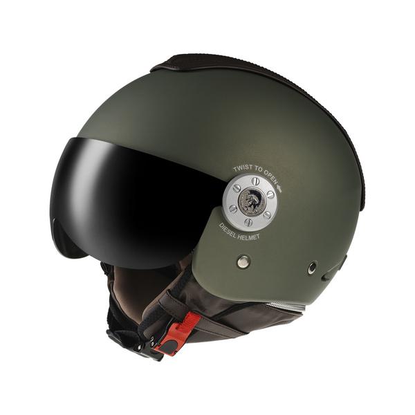 Casco moto Diesel Mowie Mono verde opaco