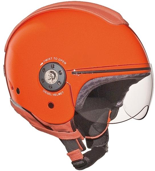 Casco moto Diesel Mowie Mono arancio