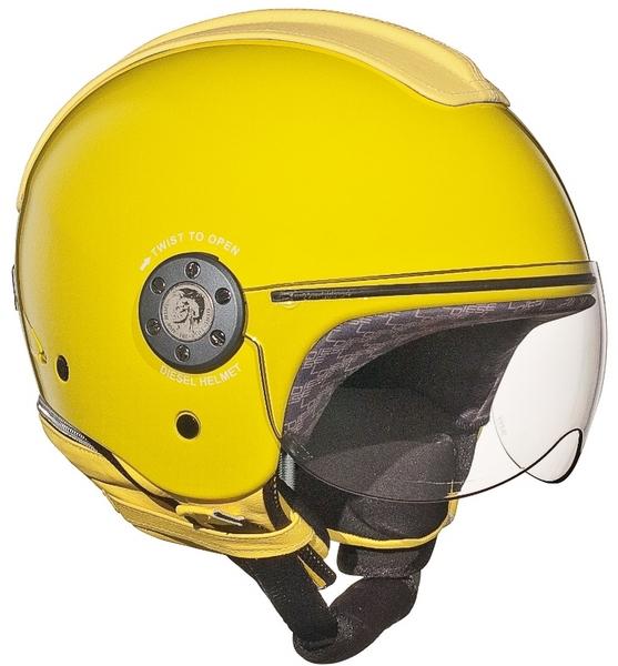 Casco moto Diesel Mowie Mono giallo