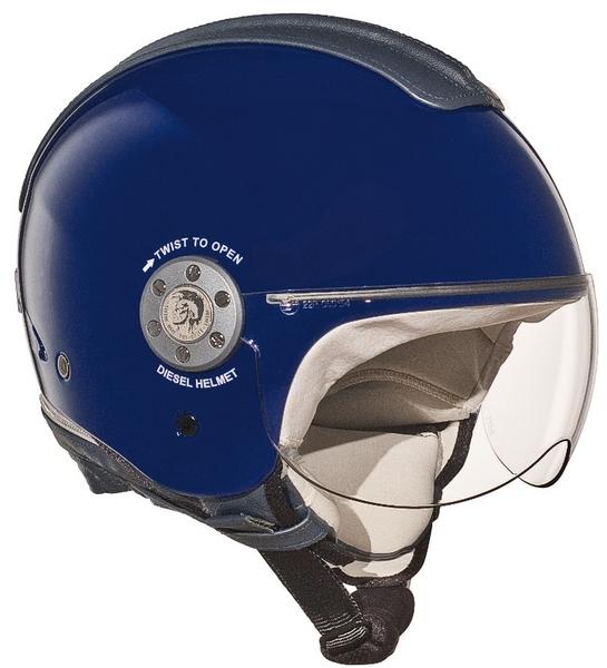 Casco moto Diesel Mowie Mono blu