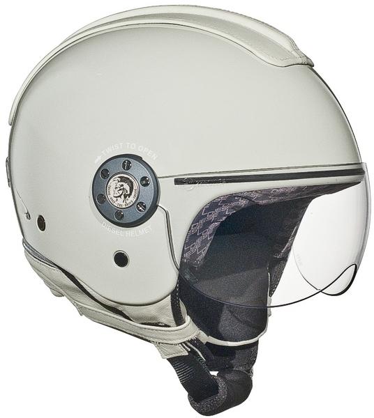 Diesel Mowie jet helmet white-grey