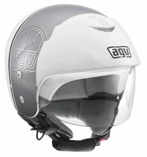 Casco moto Agv Bali II Multi Stripe bianco-gunmetal