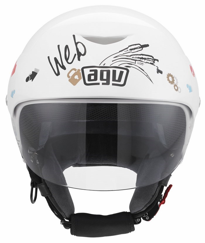 Agv City Bali II Multi Web helmet white