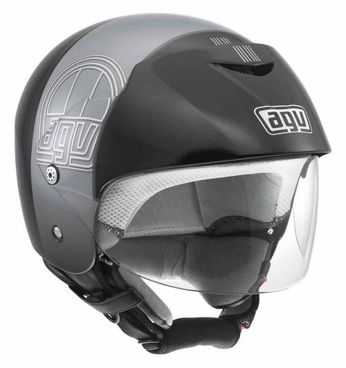 Casco moto Agv Bali II Multi Stripe nero-gunmetal
