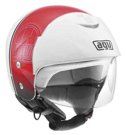 Casco moto Agv Bali II Multi Stripe bianco-rosso