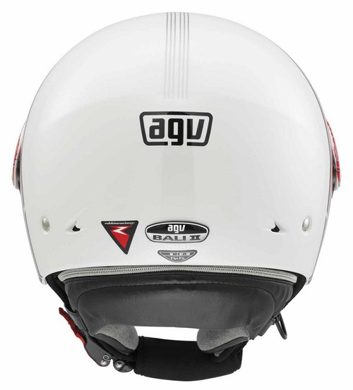 Agv Bali II Multi Stripe jet helmet white-red