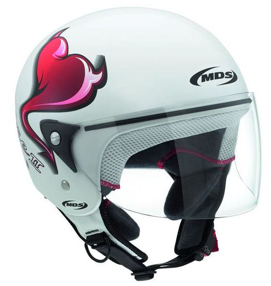 Casco moto Mds by Agv Free II Multi Heart bianco