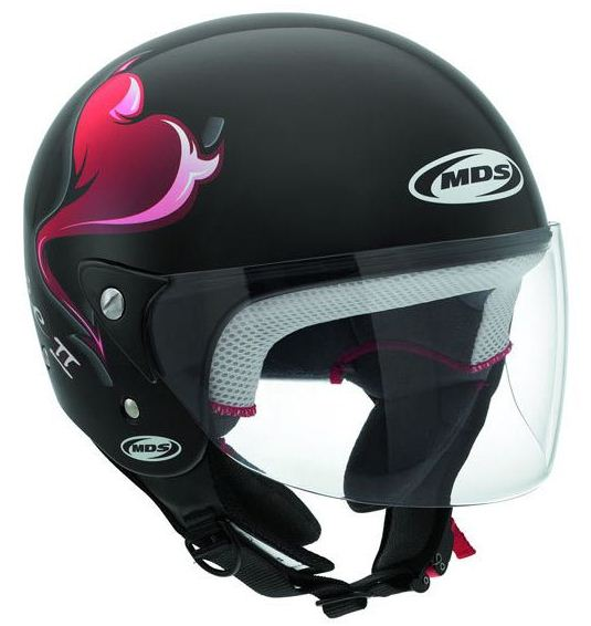 Mds by Agv Free II Multi Heart jet helmet black