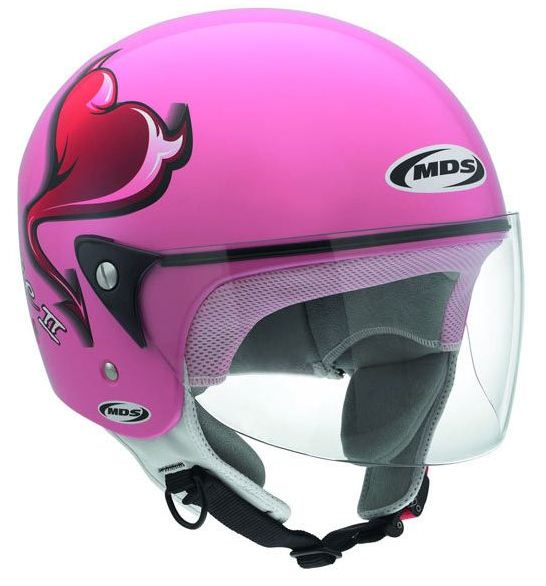 Mds by Agv Free Multi Heart jet helmet pink