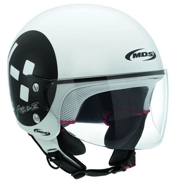 Casco moto Mds by Agv Free II Multi Emoticon bianco nero
