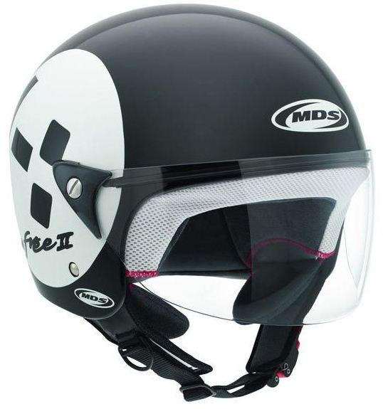 Mds by Agv Free II Multi Emoticon jet helmet black-white