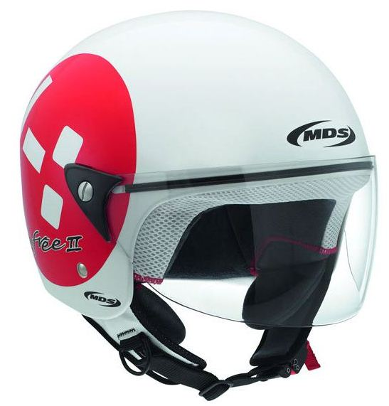 Mds by Agv Free II Multi Emoticon jet helmet white-red