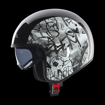 Diesel Hi-Jack Multi Graffiti jet helmet Black