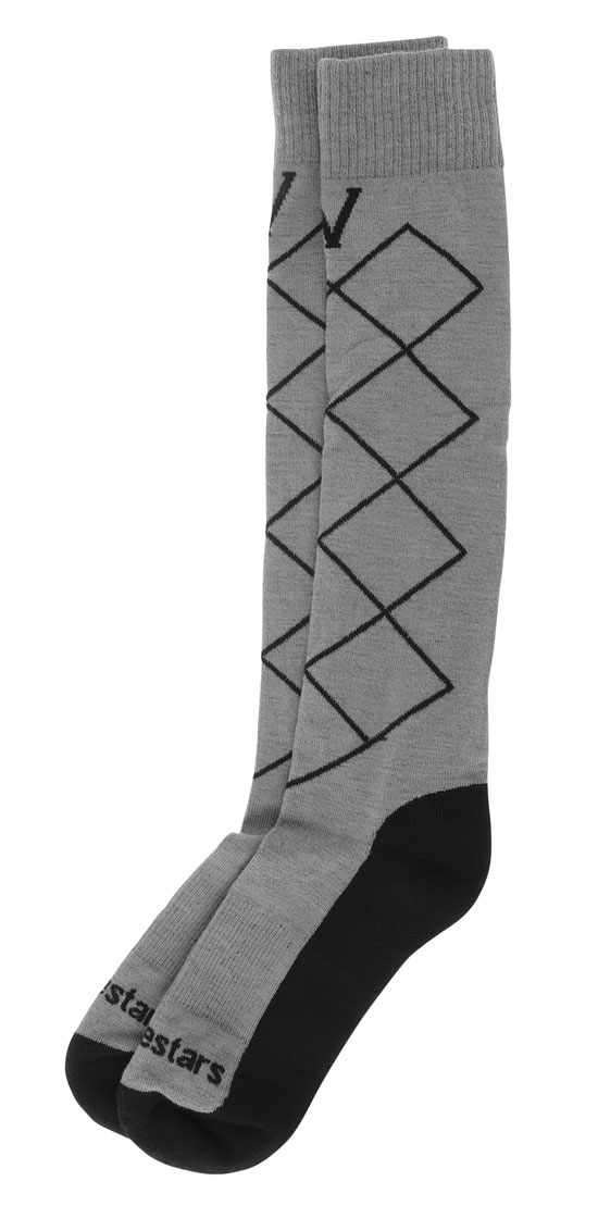 Technical Coolmax Socks Alpinestars Supervictory Grey Black