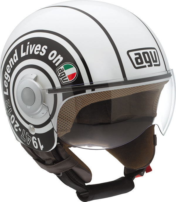 Agv Bali Copter Multi Legend jet helmet white
