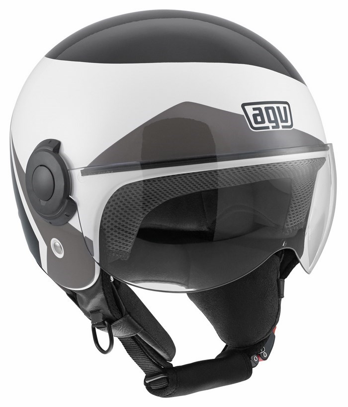 Agv City Bali Copter Multi Visual helmet white black grey