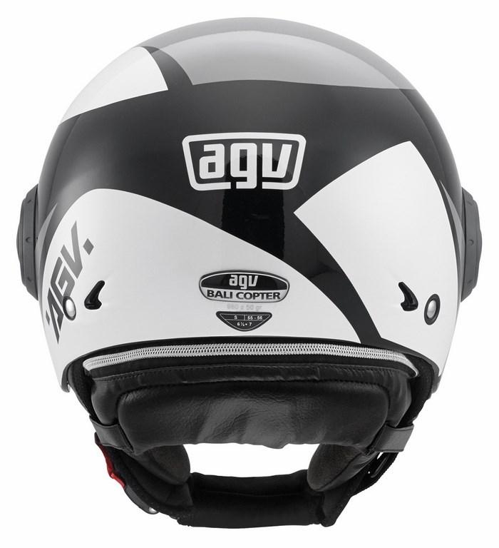 Agv City Bali Copter Multi Visual helmet black-grey-white