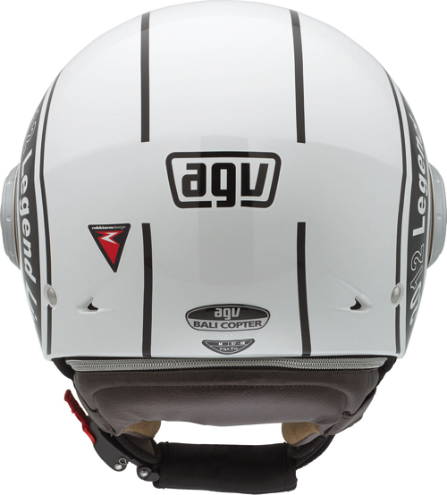 Casco moto Agv Bali Copter Multi Legend bianco