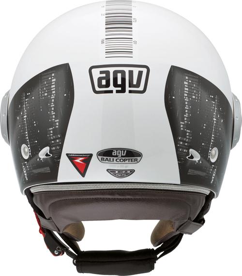 Agv Bali Copter Multi Barcode jet helmet