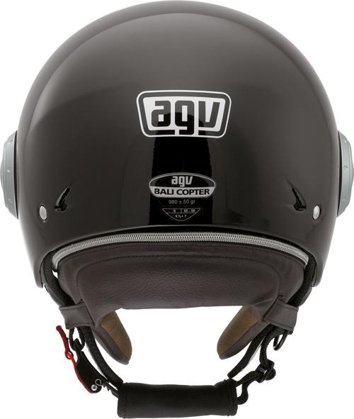 Casco moto Agv Bali Copter Mono nero lucido