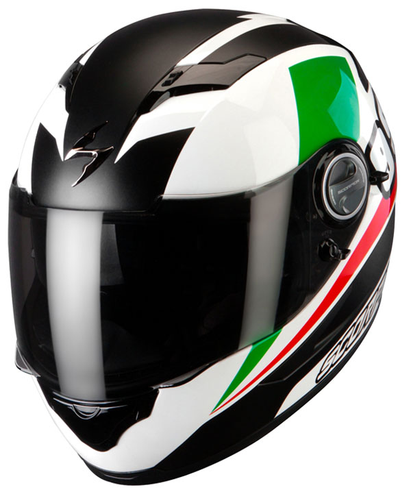 Full face helmet Scorpion Exo 500 Evo White Red Green