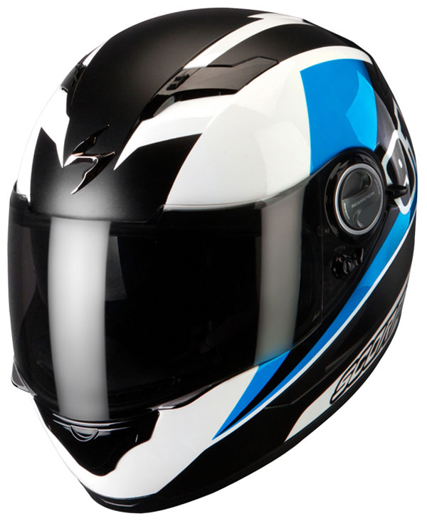Casco integrale Scorpion Exo 500 Evo Bianco Blu