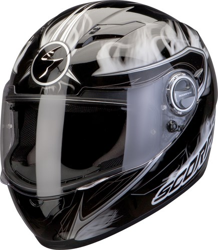 Scorpion Exo 500 Air Shadows full face helmet Black White