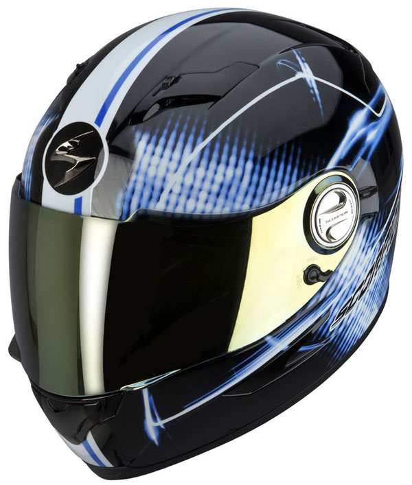 Full face helmet Scorpion EXO 500 Black Blue Quasar