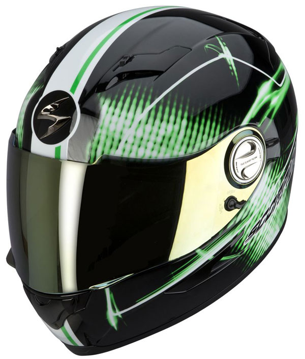 Full face helmet Scorpion EXO 500 Black Green Quasar