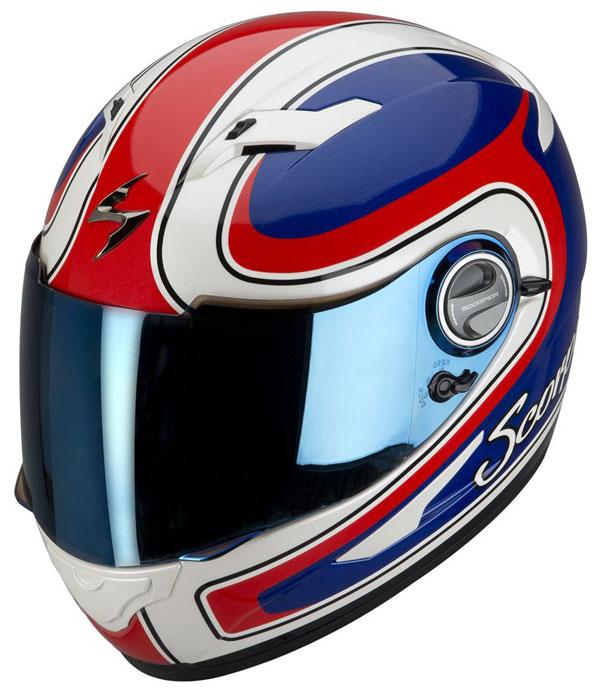 Full face helmet Scorpion EXO 500 Classic Blue Red White