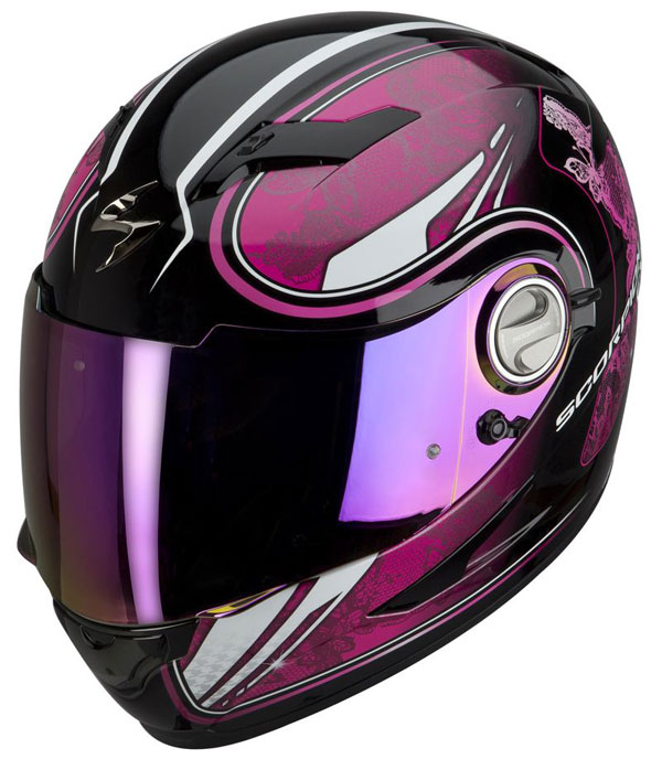 Casco integrale Scorpion EXO 500 Laces Nero Rosa