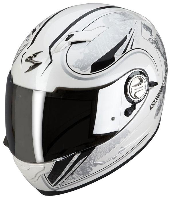 Full face helmet Scorpion EXO 500 White Silver Laces