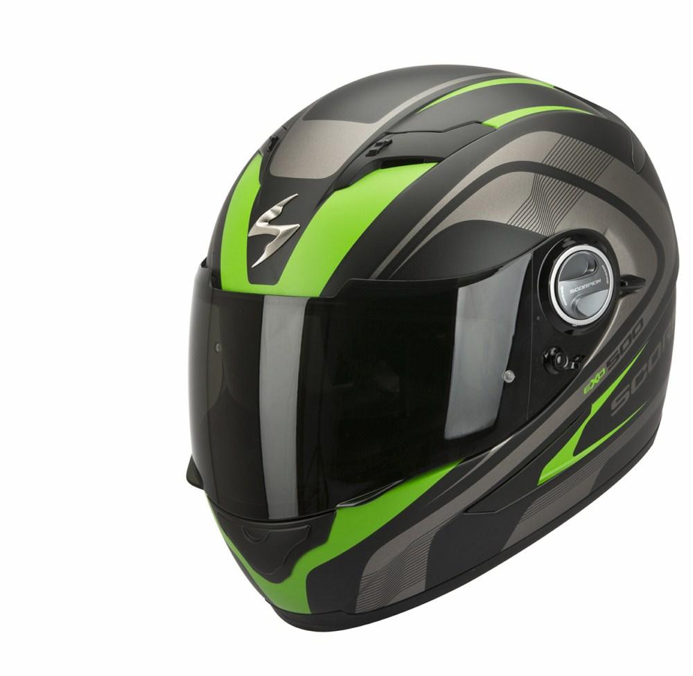 Scorpion Exo 500 Air Focus full face helmet black green