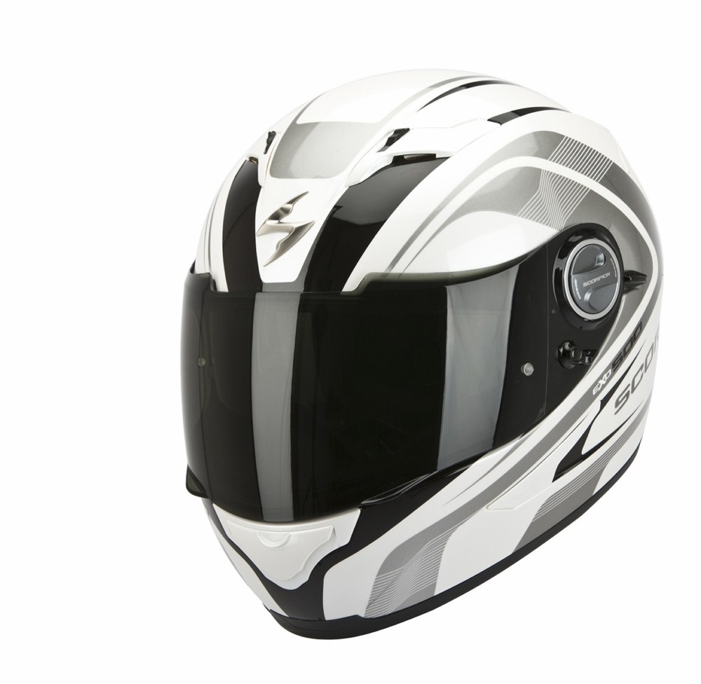 Scorpion Exo 500 Air Focus full face helmet white black