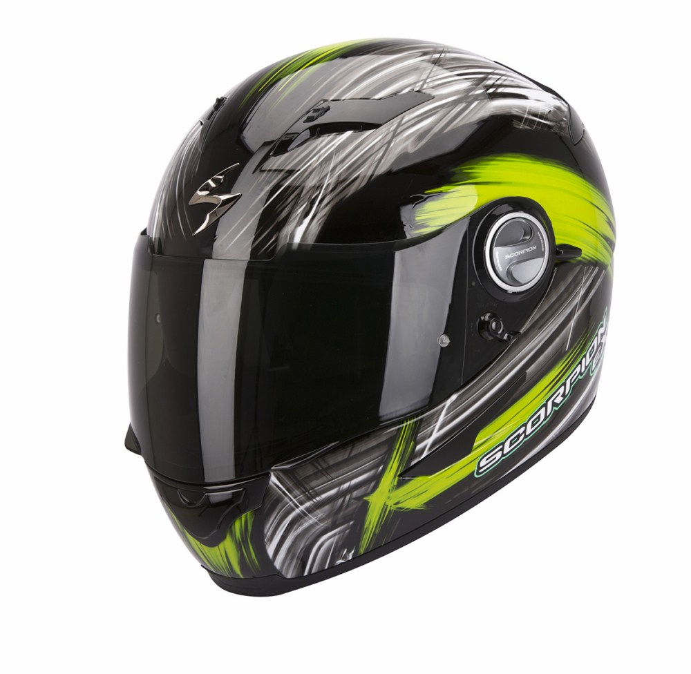 Scorpion Exo 500 Air Ewok full face helmet black green