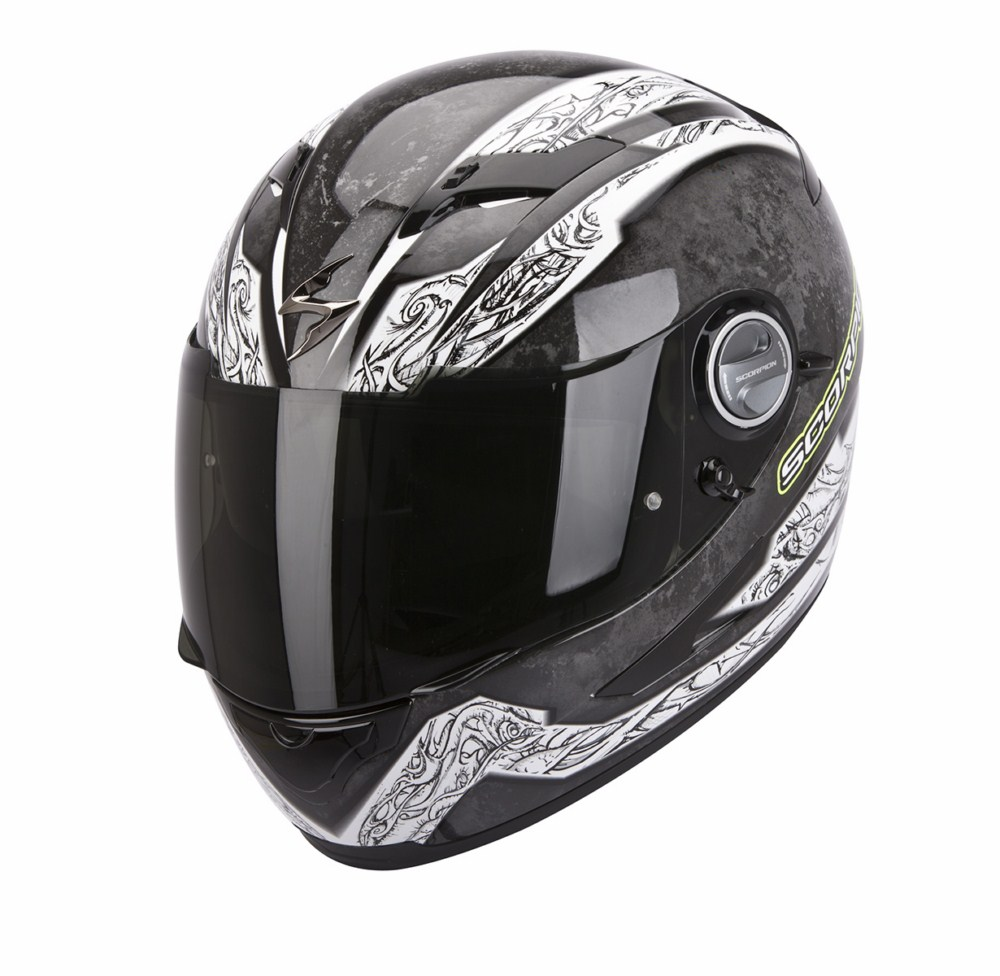 Scorpion Exo 500 Air Ison full face helmet black yellow