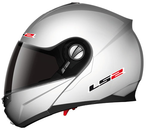 Casco moto modulare LS2 FF386.1 Ride argento lucido