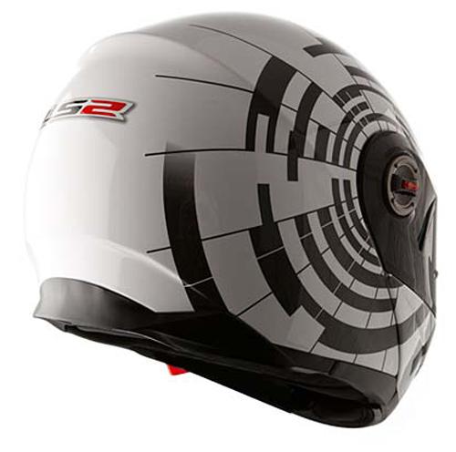 Modular Helmet LS2 FF386 White Black Abyss