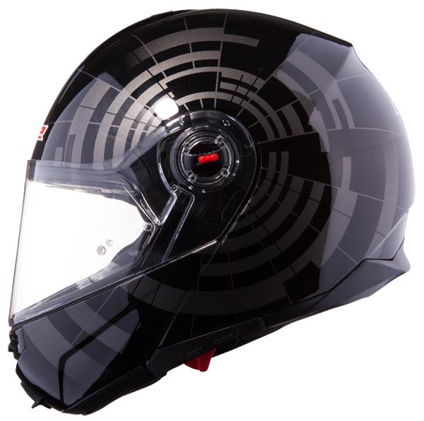 Modular Helmet LS2 FF386 Titanium Black Abyss