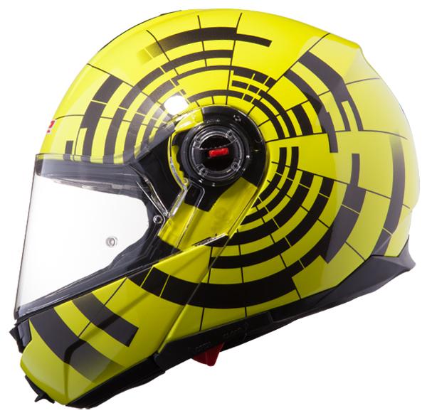 Modular Helmet LS2 FF386 Black Abyss fluorescent yellow