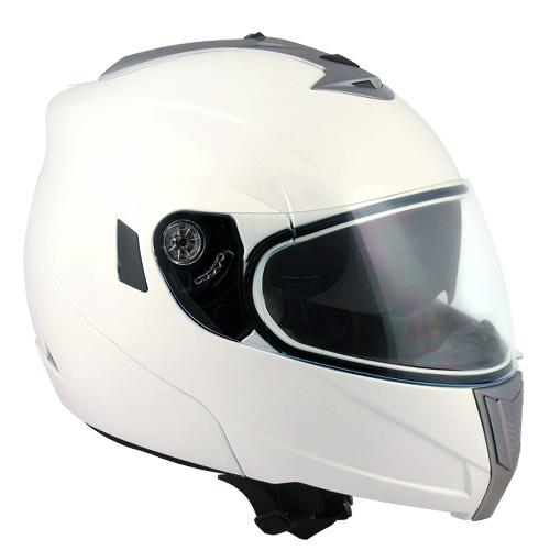 CGM THUNDERBOLT flip off helmet PearlWhite