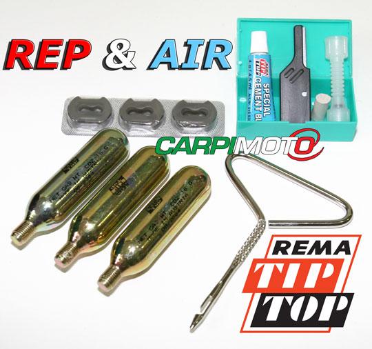RepAir originale Rema Tip Top, kit riparazione pneumatici tubele
