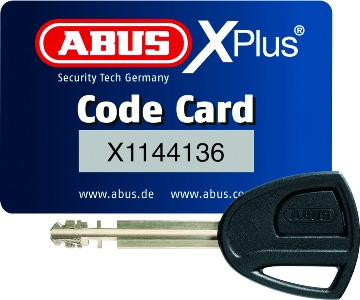 Chain Abus Granit 58 14ks Black bow with loop 120 cm 310 mm