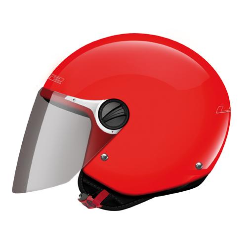 Casco moto jet bambino LS2 OF575 Wuby Junior Rosso