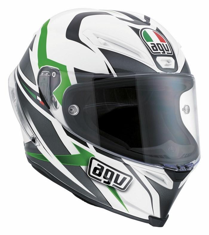 Agv Race Corsa Multi Velocity helmet white-black-green
